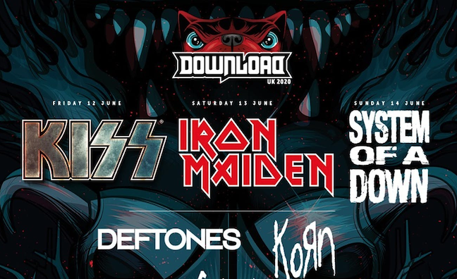 Download Festival confirms Iron Maiden, Kiss and System Of A Down as 2020 headliners