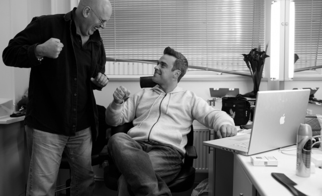David Enthoven with Robbie Williams