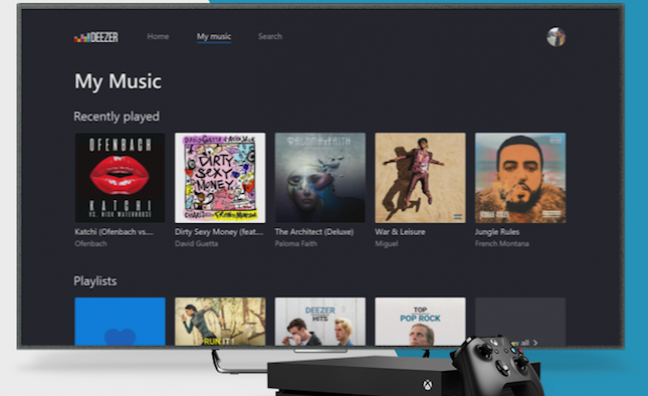 Deezer launches Xbox One app