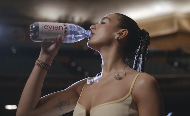 Dua Lipa launches Evian campaign featuring a capella performance of Levitating