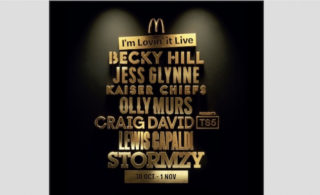 McDonald's serves up online music event with Stormzy, Lewis Capaldi and Jess Glynne