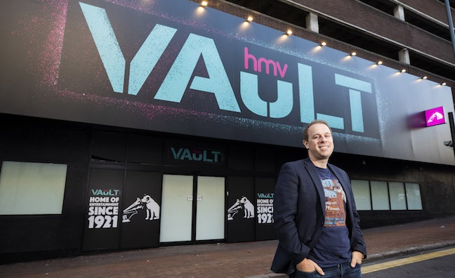 HMV set for gala opening of Birmingham Vault store