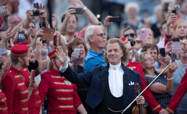 André Rieu makes UK box office history with highest grossing opening weekend for a music concert