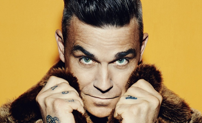 Robbie Williams to be honoured with BRITs Icon Award