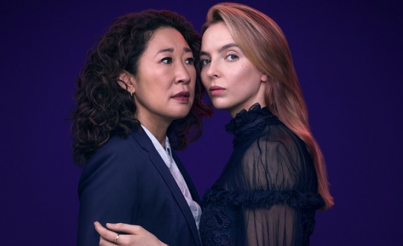 All about Eve: (L-R) Killing Eve's Sandra Oh and Jodie Comer