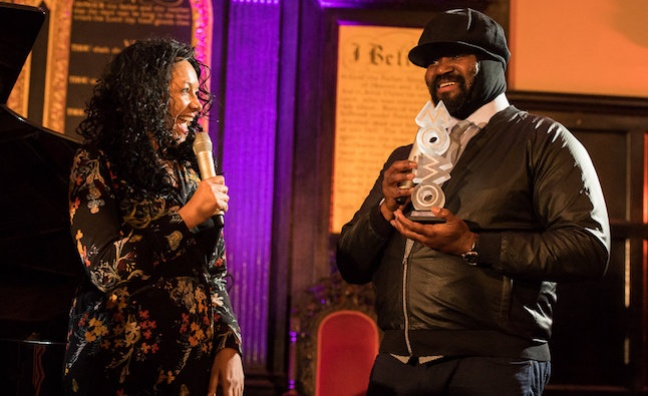 Gregory Porter honoured with MOBO Outstanding Contribution