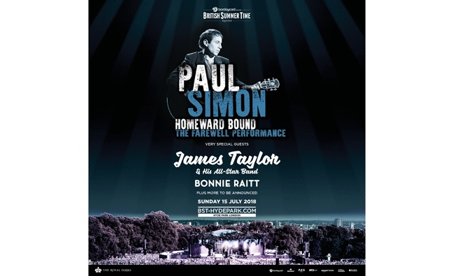 Paul Simon 'Farewell Performance' to close British Summer Time Hyde Park 2018