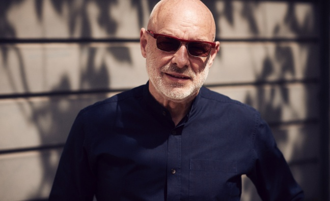 Brian Eno to give keynote interview at IMS 2020