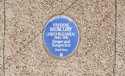 Freddie Mercury's First London Home Honoured With Blue Plaque