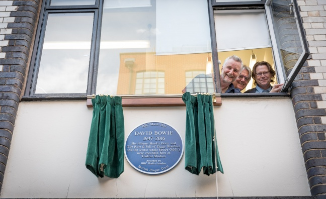 Blue plaque unveiled to mark David Bowie's Soho recording studio