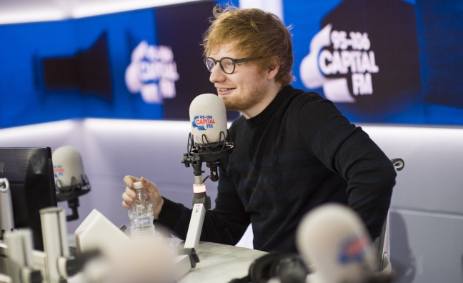 Ed Sheeran to play Capital's Jingle Bell Ball