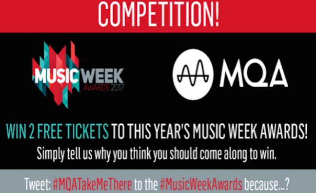 Win two free tickets to this year's Music Week Awards