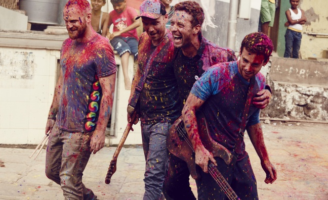 Coldplay collaborate with Bauer Media Group on London Palladium gig
