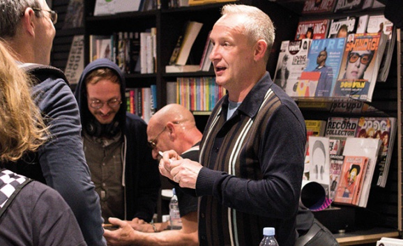 On the right track: NAD ambassadors Orbital at Resident Records and (inset) Jess Glynne fans at HMV's signing