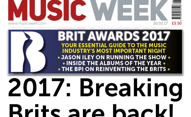 BRIT Awards special issue of Music Week out now