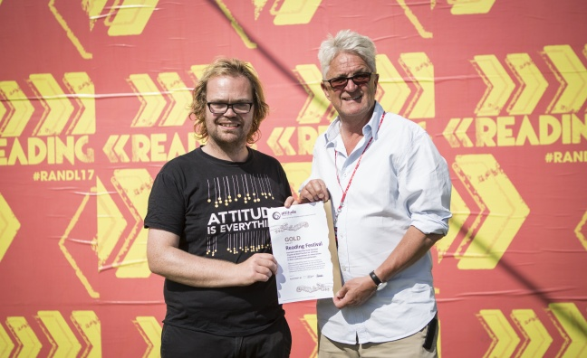 Reading Festival awarded Attitude Is Everything's Gold Status