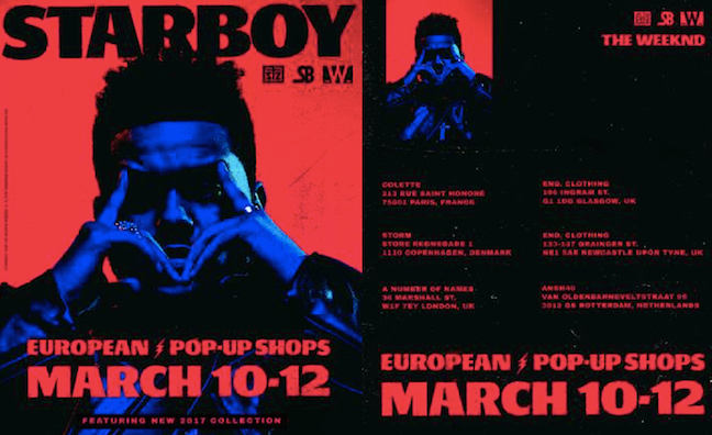 The Weeknd pop-up shops coming to European cities this weekend