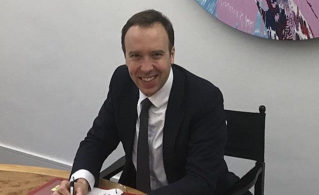 BPI welcomes 'passionate champion' Matt Hancock as Culture Secretary