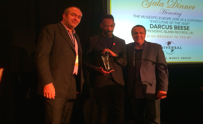 Darcus Beese receives MUSEXPO Europe European Executive of the Year Award