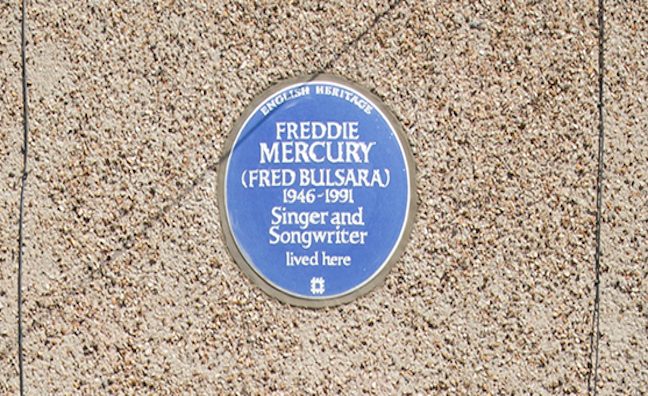 Freddie Mercury honoured with English Heritage Blue Plaque